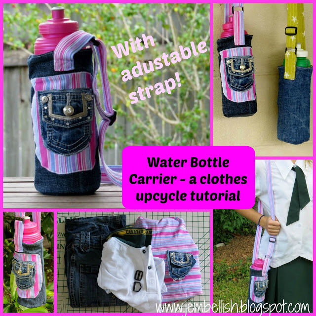 Water bottle carrier titled 2